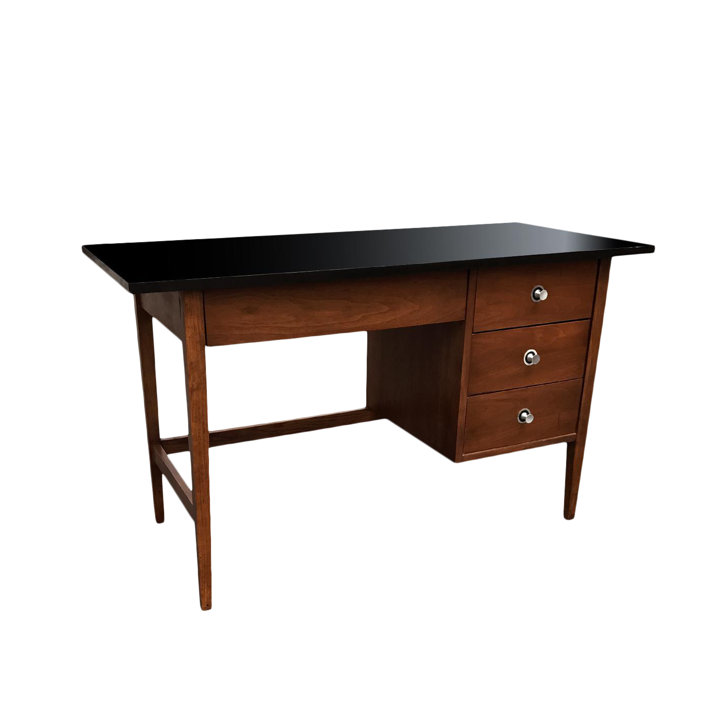 1960s Mid Century Modern Desk By Stanley This Desk Features 1 Drawer On Top And 3 Drawers On The Right Good Vintage Mid Century Modern Desk Modern Desk Desk