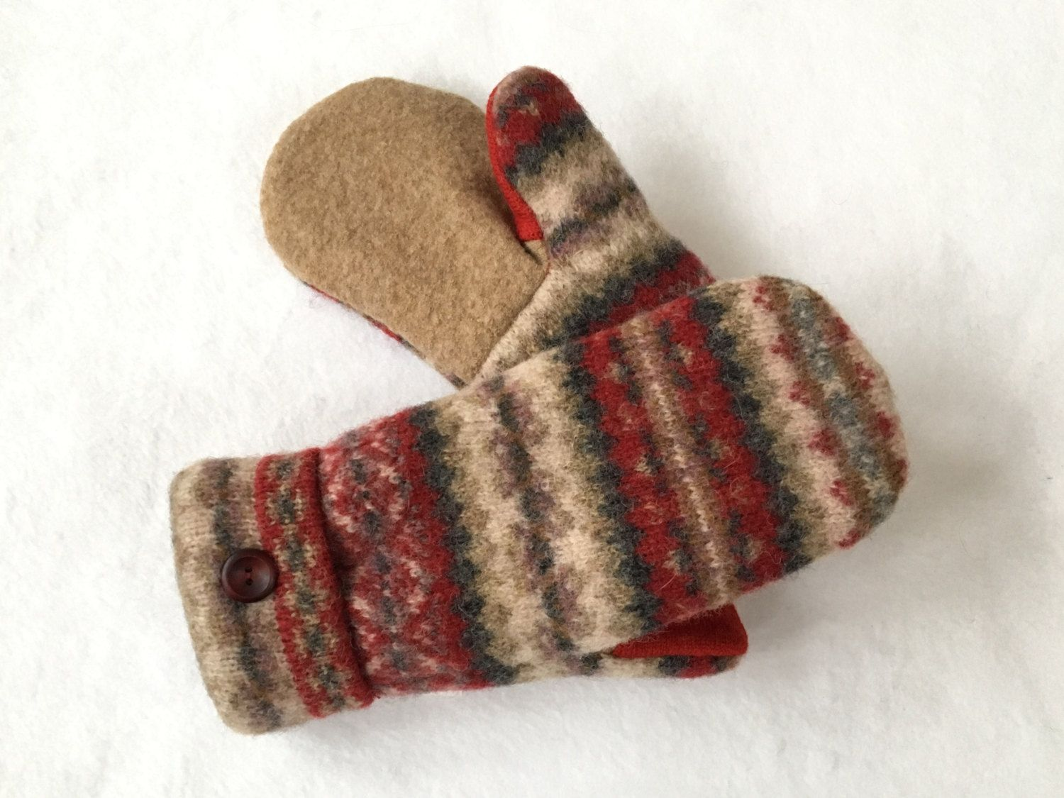 Wool Mittens, Felted Wool, Sweater Mittens, Women's