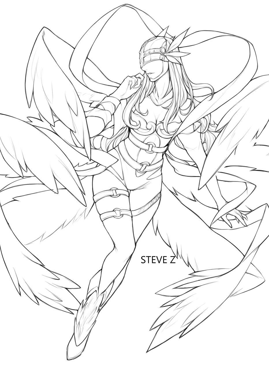 ArtStation - Angewomon, Steve Zheng | Abstract coloring ...