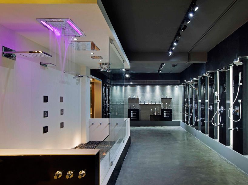De Came Up With A Provocative Modern Concept For Bathroom Showroom Emporio In Kannur India
