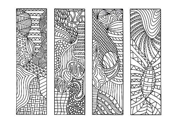 bookmarks tribal drawing bookmarks coloring pages