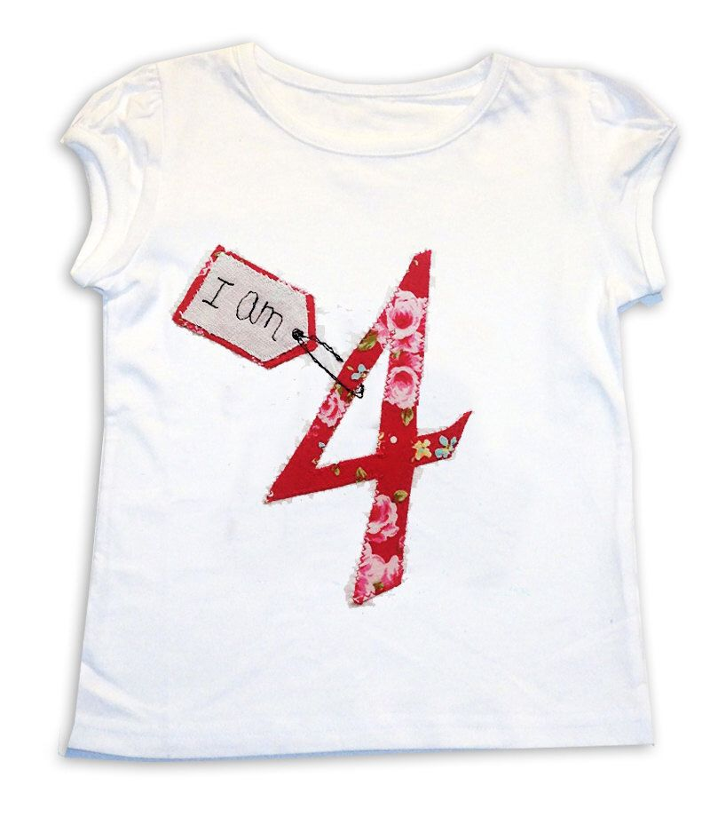 Girls birthday tshirt girls personalised age tshirt