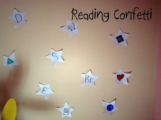 Stars are on the ceiling--ask questions and have kids answer by shining flashlight on the appropriate star