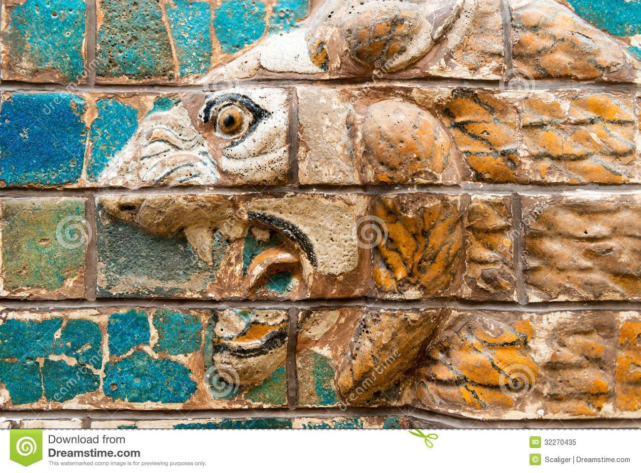 Image from http://thumbs.dreamstime.com/z/fragment-babylonian-ishtar-gate-archaeology-museum-museums-may-istanbul-turkey-babylon-were-32270435.jpg.