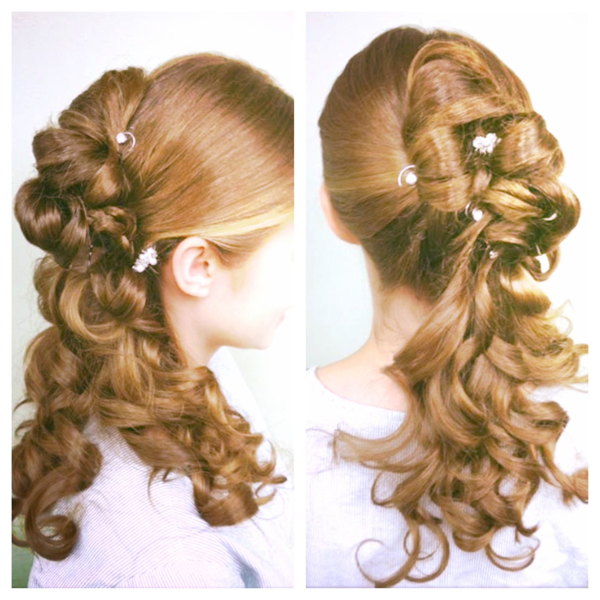 my hair for prom! it is a sideswept bun with jewels and