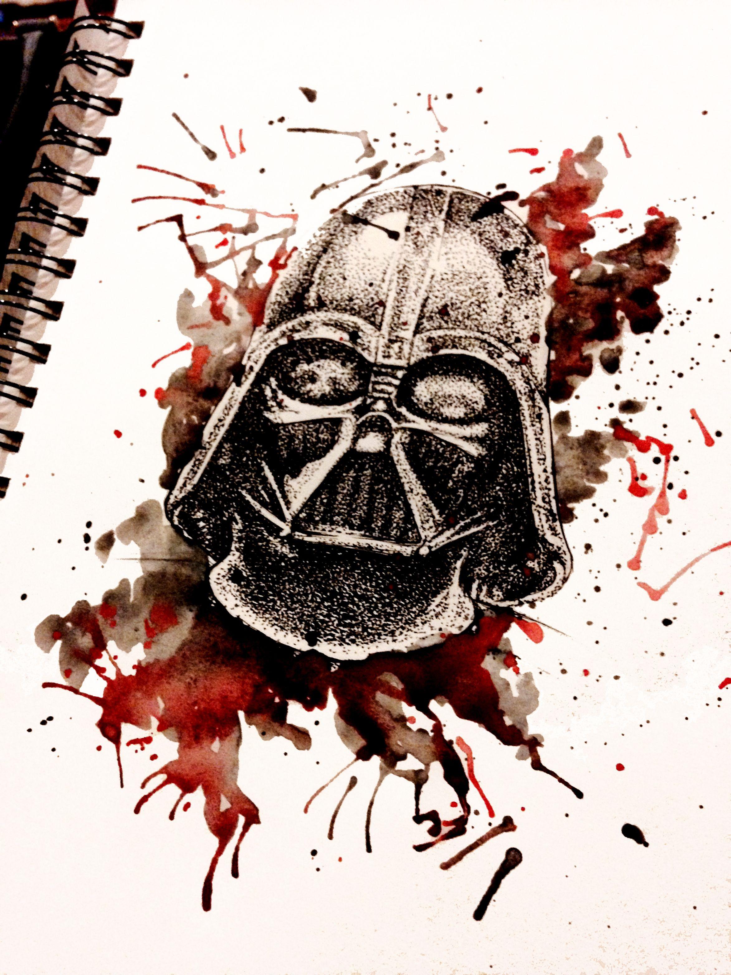 Darth Vader watercolor | STAR WARS | Pinterest | Darth ...