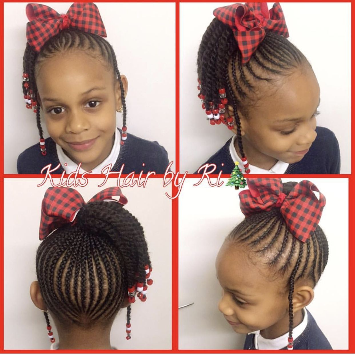 Christmas natural hairstyles for kids. Holiday hair Shop www