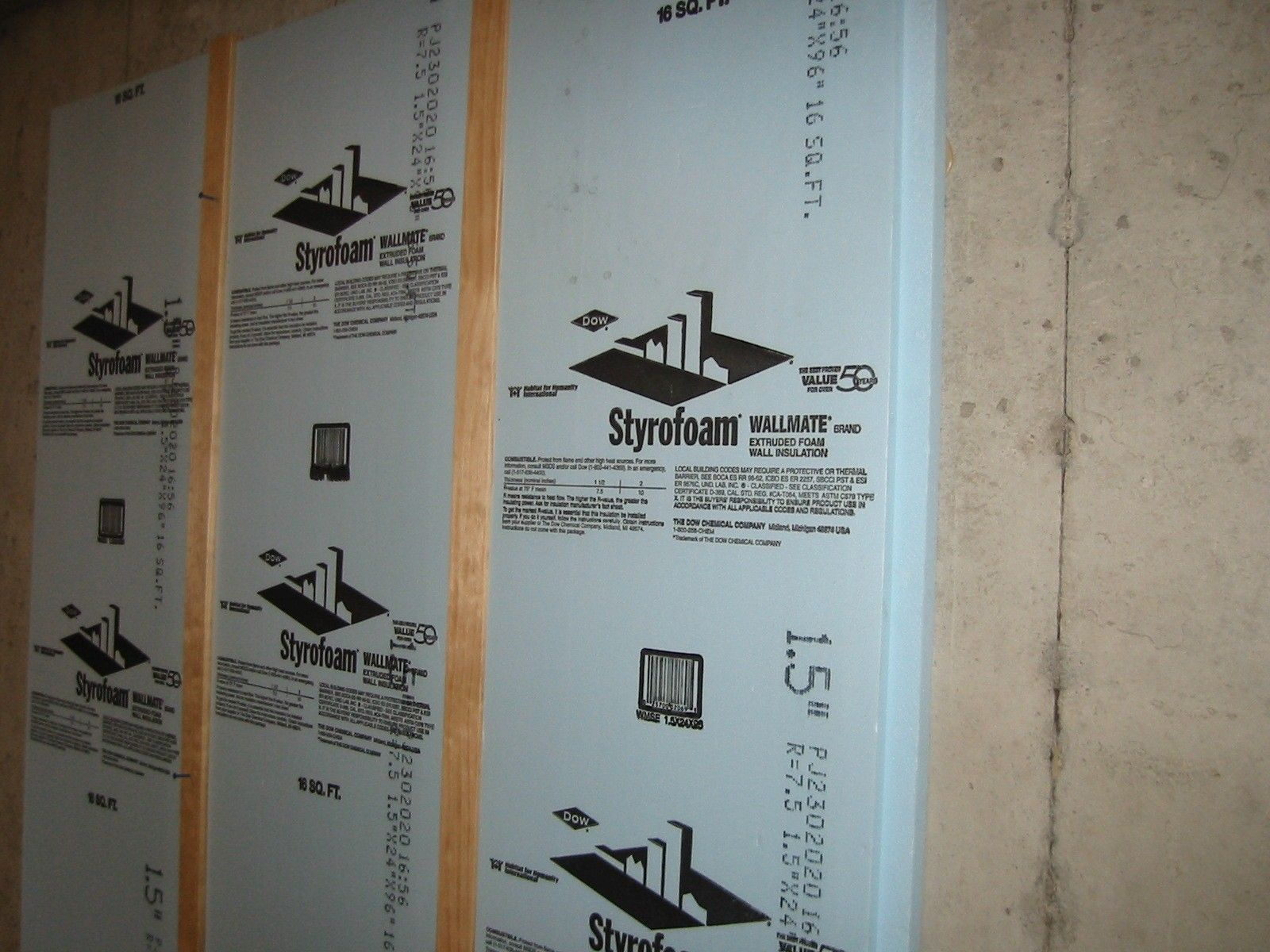 Insulating Basement Walls Procedures With Foam Board And