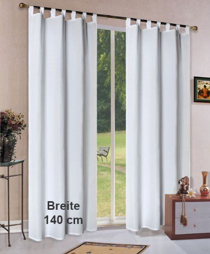 Vorhang Blickdicht Matte unifarbene Gardine mit Schlaufen und - vorhange wohnzimmer grau