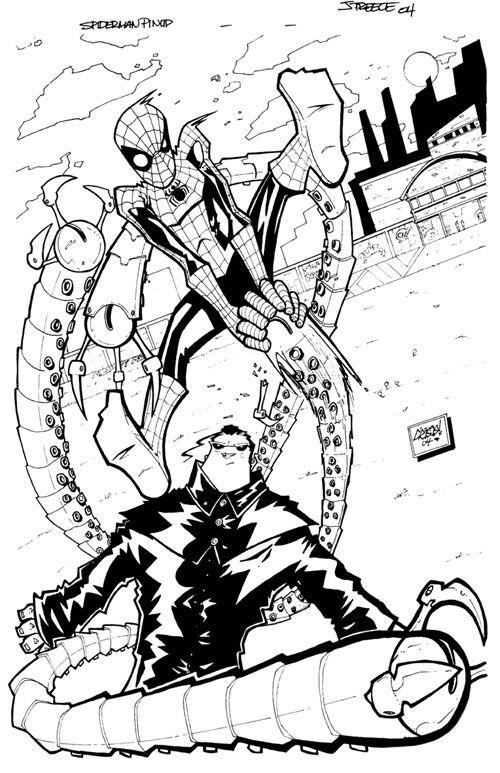 Spider-man vs. Doctor Octopus by *JeremyTreece on deviantART