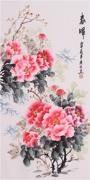 2d400380b Classic best painting Artists Floral paintings Modern art famous Peony Flower  Painting - US $600.00