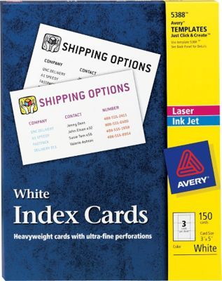 Avery X Laser Inkjet Index Cards Filing System Pinterest - Avery 3x5 template
