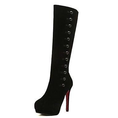 damesschoenen mode laarzen naaldhak knie hoge laarzen meer