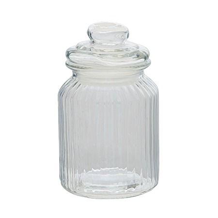 Sort It Ridge Glass Jar 1000ml   Non Plastic Food Storage   Kitchen Storage
