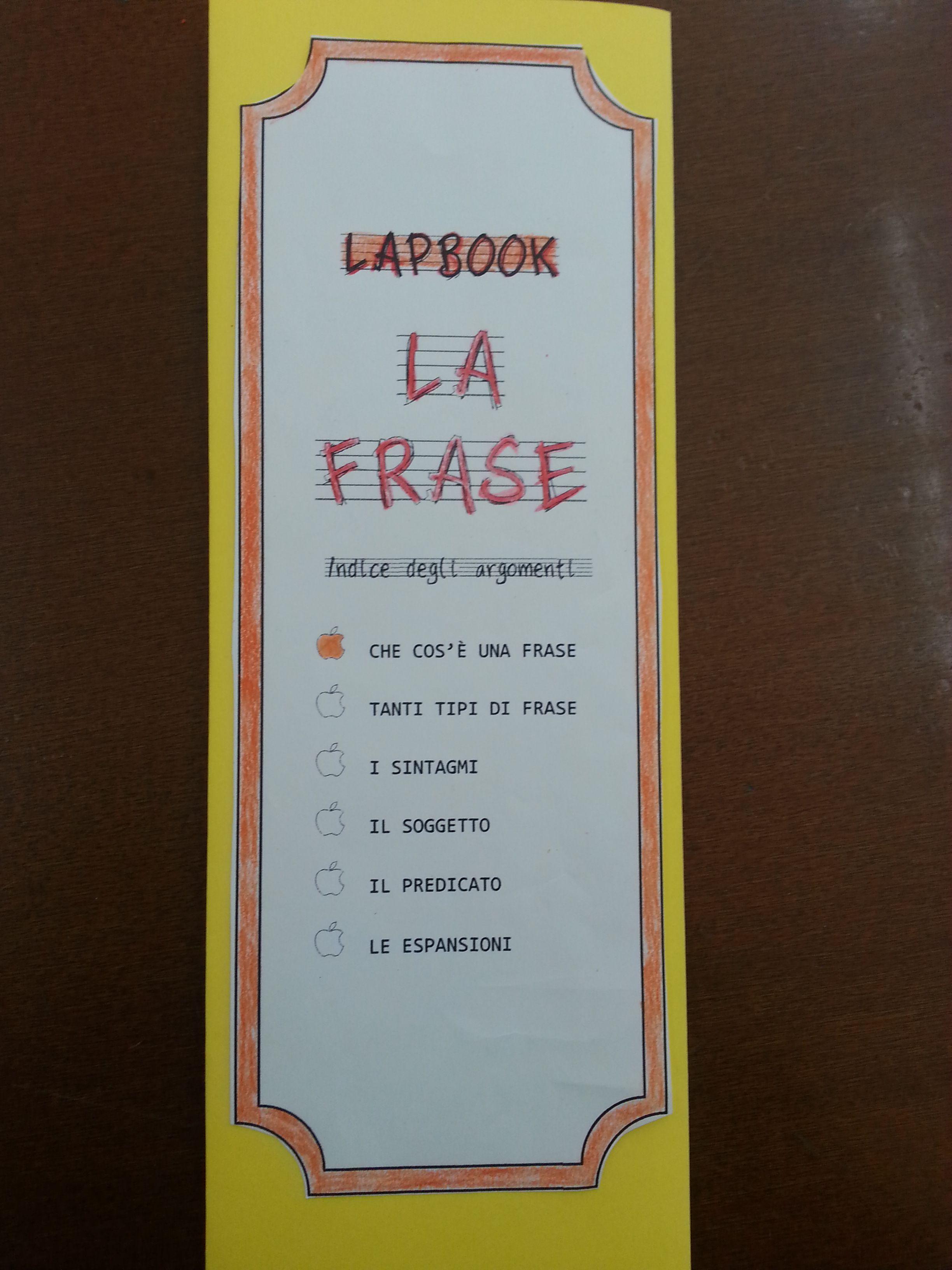 Lapbook – La frase   SCUOLA   Pinterest