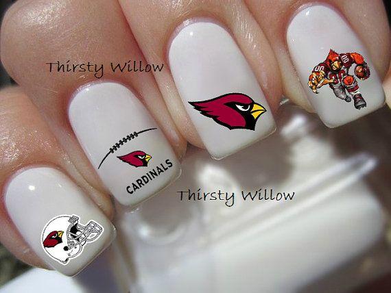 arizona cardinals nail decals