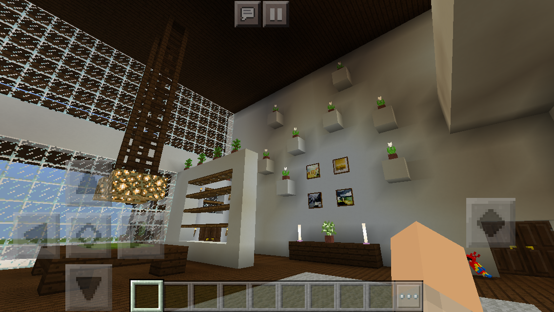 Modern House Family Room Minecraft Interior Design