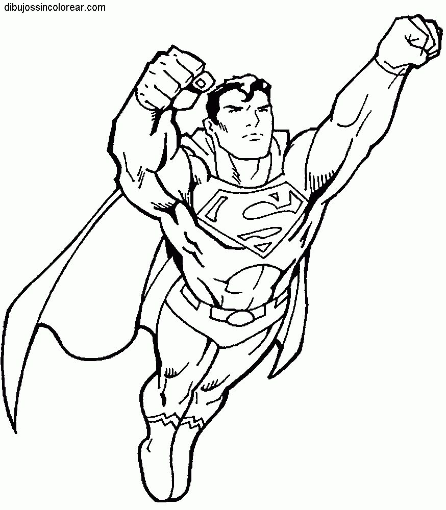 Superman For Coloring Coloring Pages Allow Kids To Accompany Their Favorite Characters O Superhero Coloring Pages Superhero Coloring Superman Coloring Pages