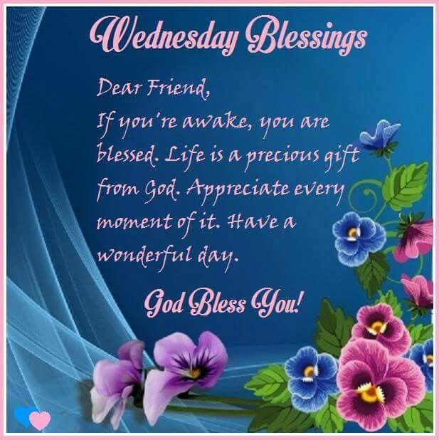 Wednesday Blessings Daily Encouragements Bless