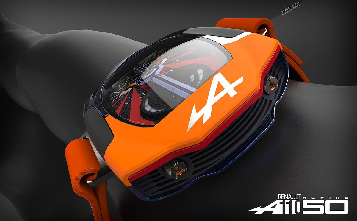 Renault Alpine A110 50 Watch Concept Modeled In Solidworks Rendered