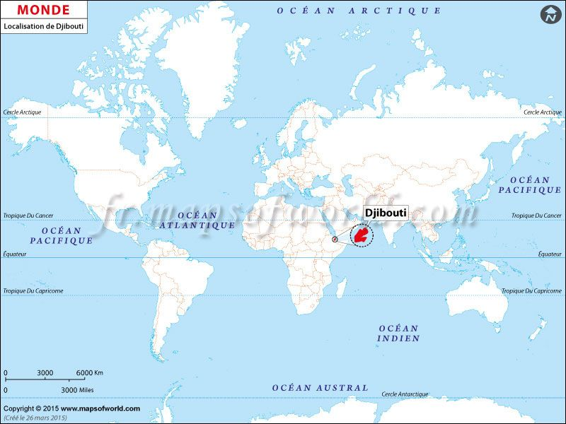Where is Djibouti located on world map? Location of #Djibouti ...