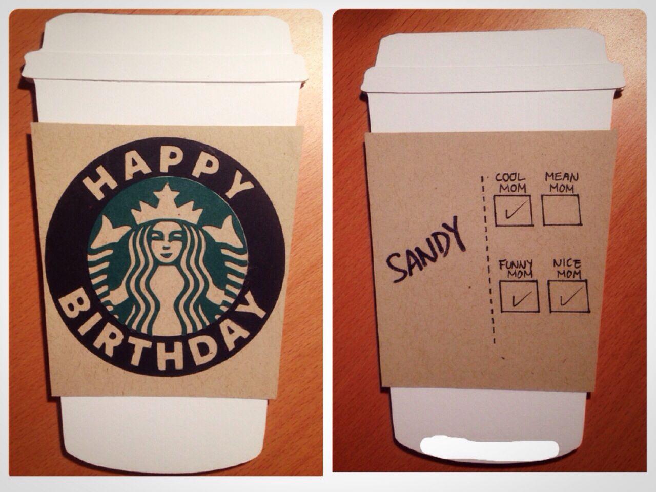 Starbucks happy birthday card Starbucks card, Happy