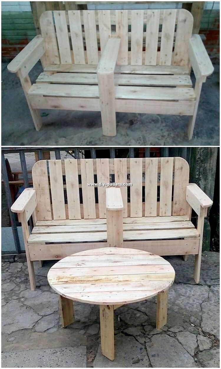 Over This Picture We Are Putting With A Rustic And Tough Garden Bench And Table Undertaking Which Offers Your Cause With A C Pallet Diy Pallet Furniture Pallet