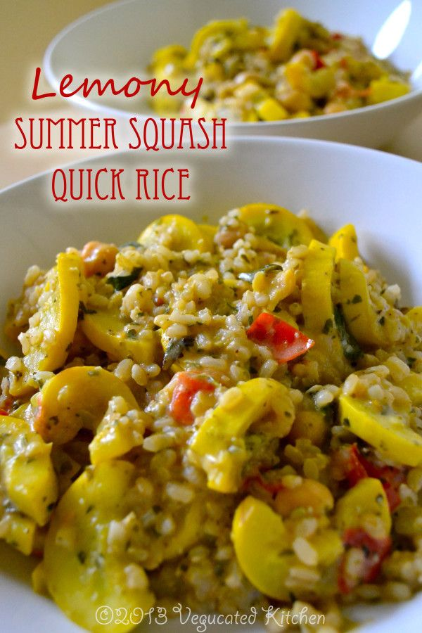 Lemony Summer Squash Quick Rice Yummy Meat Recipes