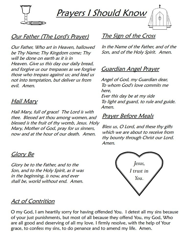Clever image throughout printable prayers