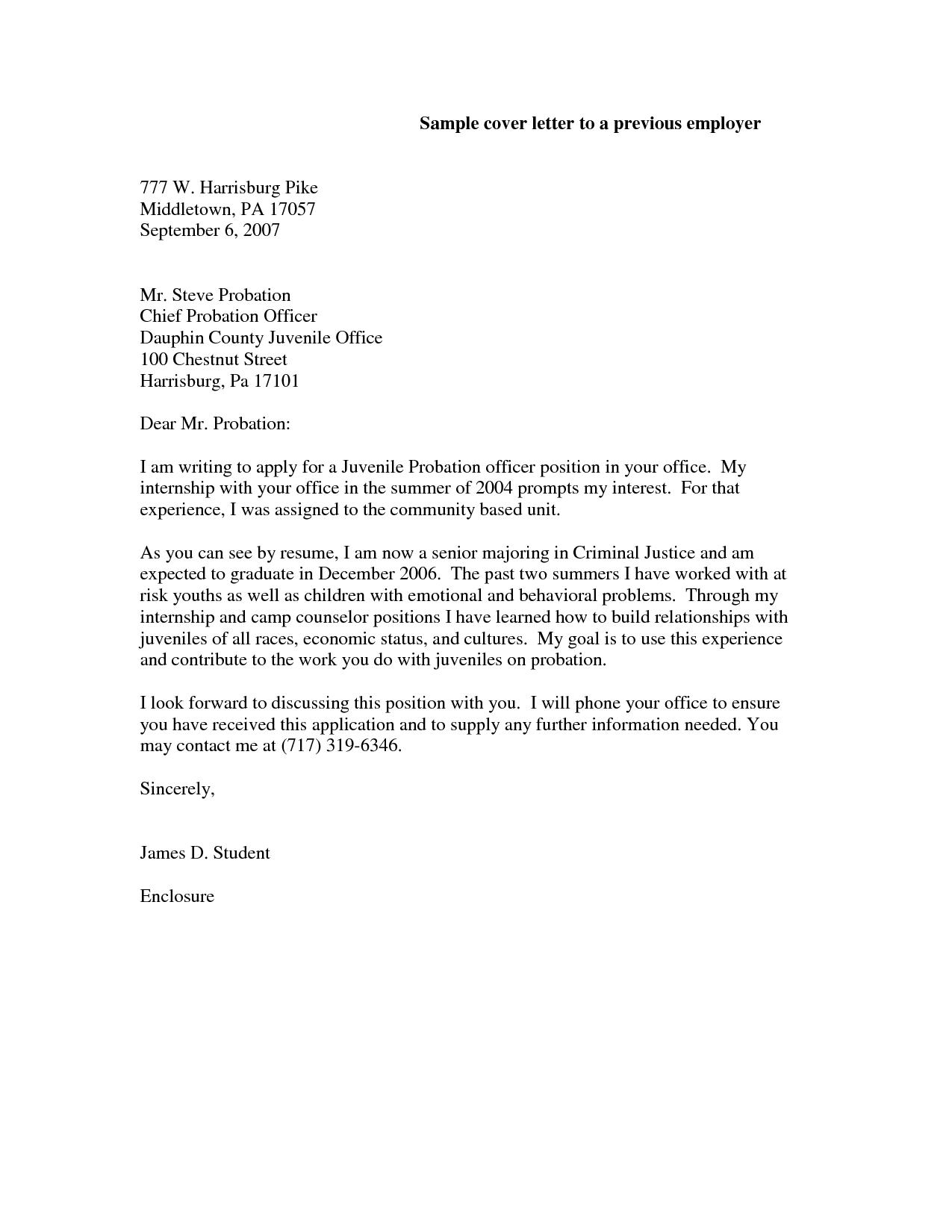Cover Letter Examples Criminal Justice Internship Resume Format