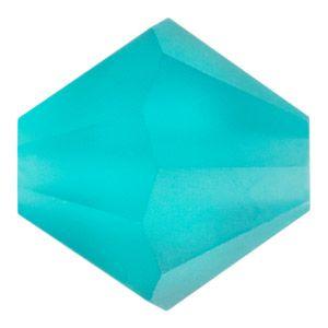 3mm Matte Blue Zircon Preciosa Crystal Bicone Bead   Fusion Beads