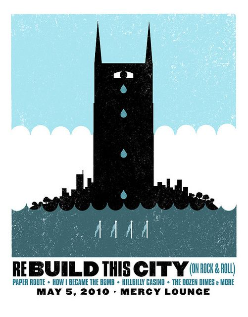 Nashville Flood benefit poster by Sam's Myth, via Flickr