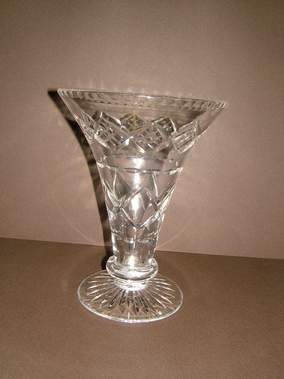 1960s Stuart Crystal Clear Crystal Flower Vase By Biminicricket 55 00 Stuart Crystal Flower Vase Making Crystal Pattern
