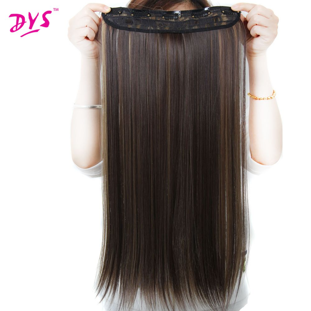 Deyngs 5clips In Hair Extensions Silky Straight 24inch Synthetic
