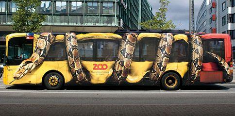 20 Amazing Auto Body Graphics To Spice Up Your Car Iboomz Bus Advertising Copenhagen Zoo Guerilla Marketing
