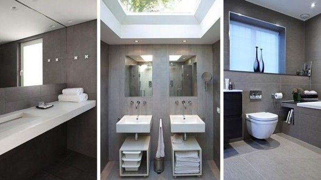 Cinco cuartos de baño en color gris (con imágenes)   Baños ...