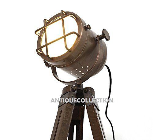 Copper Finish Antique Tripod Lamp Portable Office Ligting Https Www Amazon Com Dp