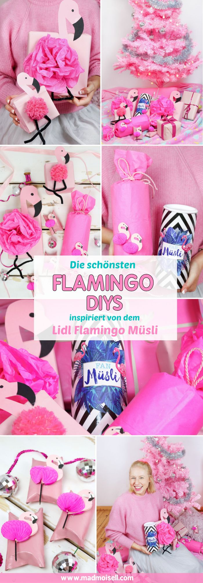diy flamingo geschenkverpackung basteln 3 kreative geschenk ideen diy pinterest flamingo. Black Bedroom Furniture Sets. Home Design Ideas
