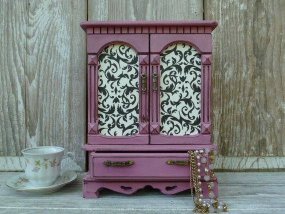 Upcycled Pink Jewelry Box by BeckiBees on Etsy, $54.00