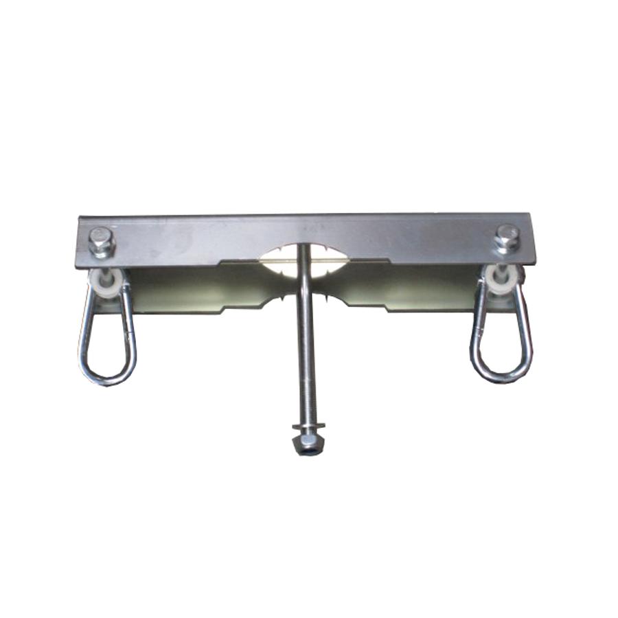 #Schaukelaufhängung mit Karabiner, #Schaukelhaken für Doppelsitzschaukel, Mehrkindschaukel oder #Nestschaukel, Maße 350x60x175 mm