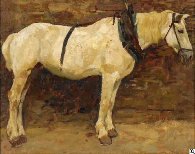 Julius Paul Junghanns: Pferdeportrait aus unserer Rubrik: Gemälde des 19. Jahrhunderts