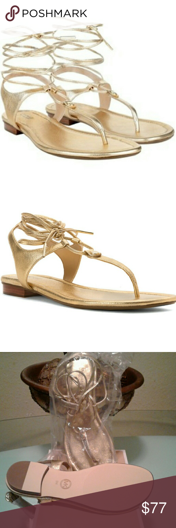 Shoes *REASONABLE OFFERS* Elegant Ankle lacing provides cushion footbed & reliable padding Michael Kors Shoes Sandals