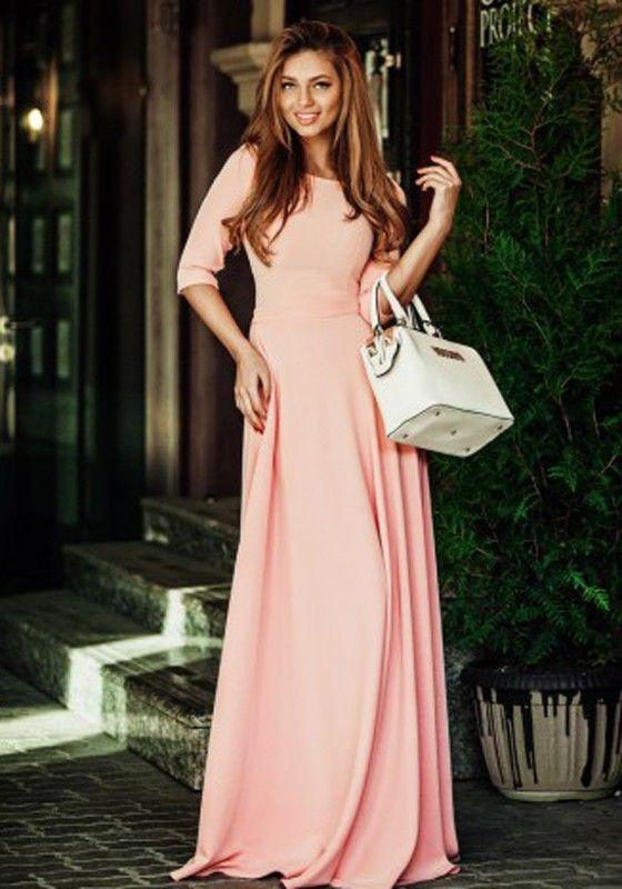 Elbow Length Maxi Dresses