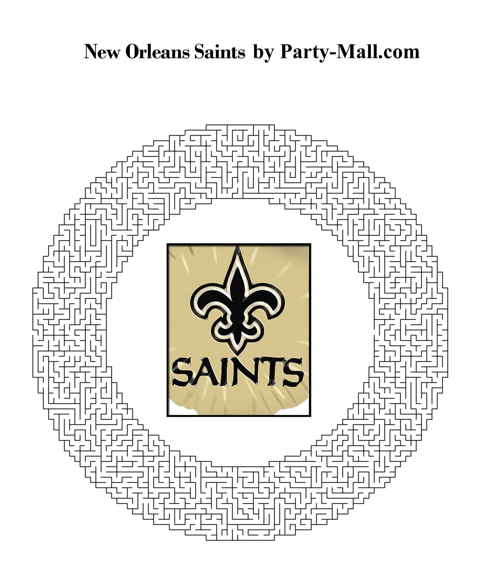 Saints Football Coloring Pages | Free New Orleans Saints Theme ...