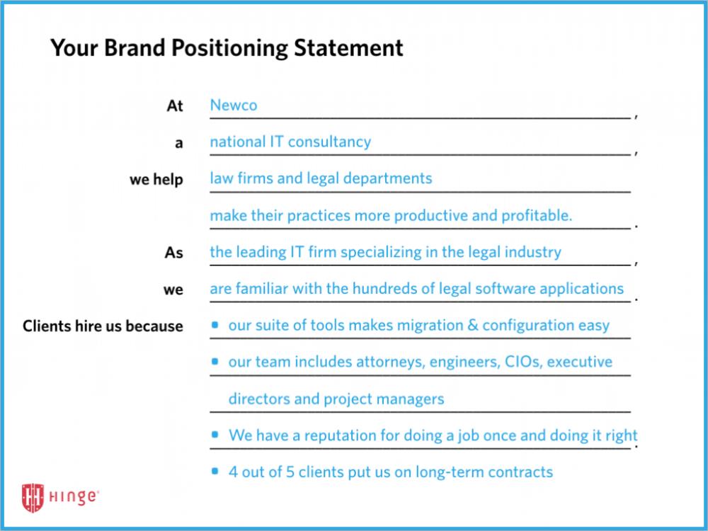 Brand Positioning Statement Ejemplo Buscar Con Google