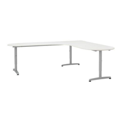 Us Furniture And Home Furnishings White Corner Desk Office Space Design Ikea