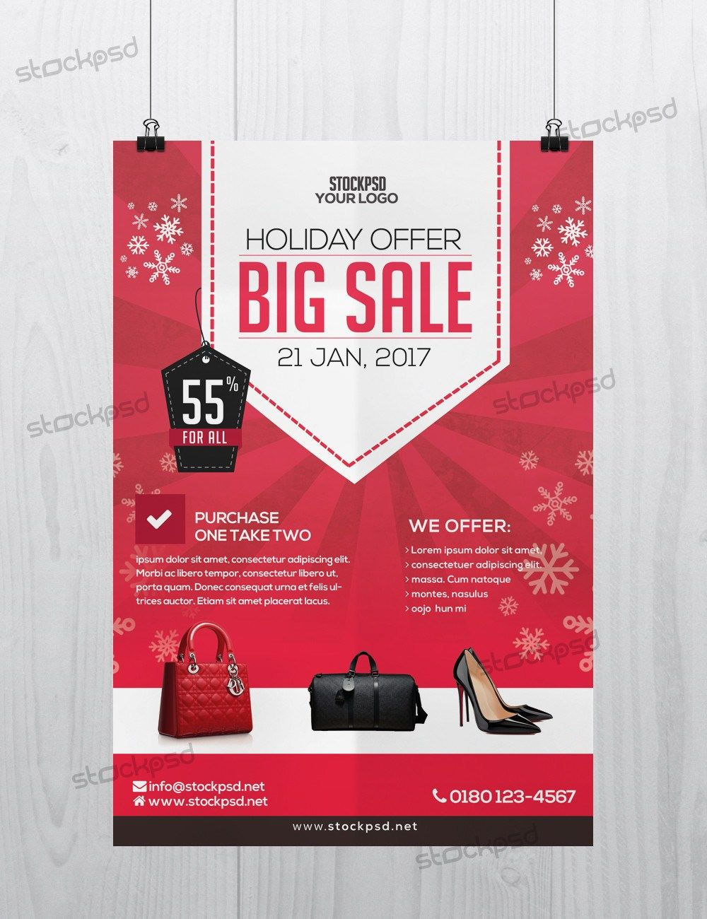 Holiday 2017 Big Sale Free Psd Flyer Template Free Psd Flyers