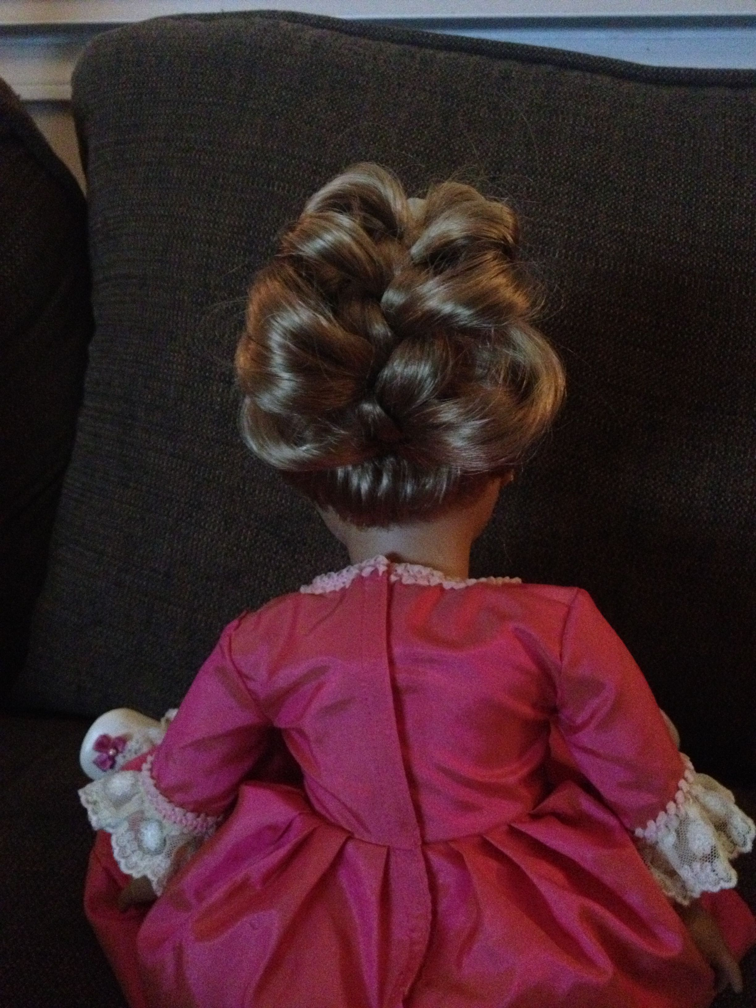 A hairstyle I did on my American girl doll | American girl doll hairstyles, American girl ...