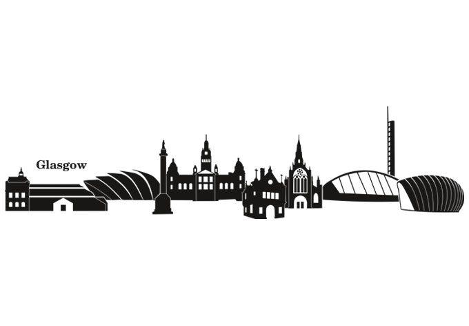 Glasgow Skyline Wall Sticker Wall Art Com Glasgow Skyline Skyline Tattoo