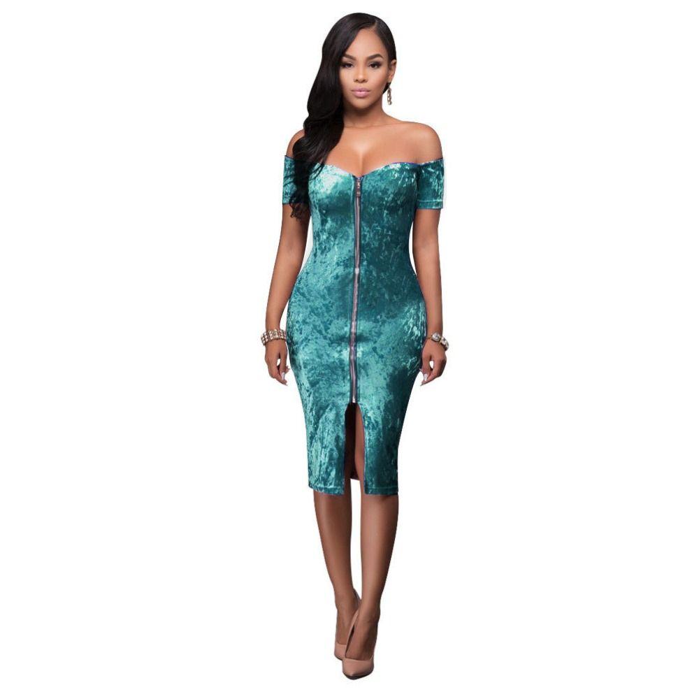 New fashion Strapless dress Sexy/Club Women dress Sheath Velvet ...